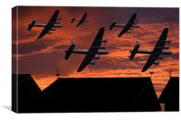 Lancaster sunset, Canvas Print
