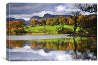 Reflections At Loughrigg Tarn, Canvas Print