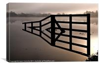 The Fence, Ullswater, Canvas Print