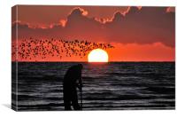 The Sunset Wormer, Canvas Print