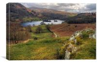 Rydal Water Views, Canvas Print