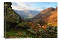 Autumn Views Above Borrowdale, Canvas Print