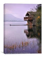 Lakeside Boathouse, Ullswater, Canvas Print