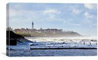 The Windy Coast, Blackpool, Canvas Print