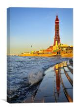 Golden Hour At Blackpool, Canvas Print