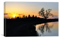 Sunset, Lancaster Canal, Canvas Print