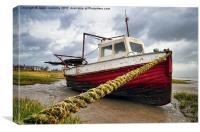 The Boat, Lytham, Canvas Print
