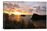 Golden Coast, Cornwall, Canvas Print