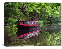 Reflections At Hebden Bridge, Canvas Print