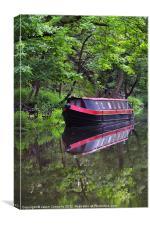 Calm Reflections, Hebden Bridge, Canvas Print