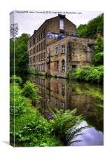 Warehouse, Rochdale canal, Canvas Print