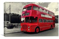 Midland Red Bus, Canvas Print