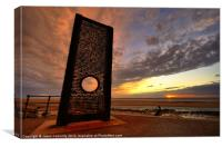 Sunset Memorial, Cleveleys, Canvas Print