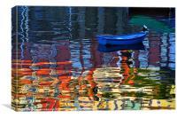 Brixham Reflections, Canvas Print