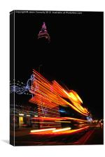 Fast Tram Blackpool, Canvas Print