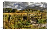 The Welsh Gateway, Canvas Print