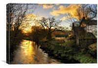 A River Brathay Sunrise, Canvas Print