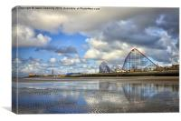 Big One Reflections At Blackpool, Canvas Print