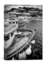 Looe Harbour, Cornwall, Canvas Print
