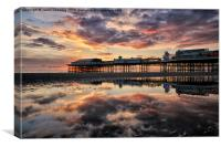 Central Pier Sunset, Canvas Print