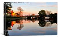 Lancaster Canal Sunset, Canvas Print