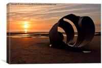 The Sunset Shell, Canvas Print