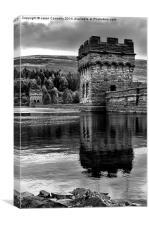 Derwent Reservoir, Derbyshire., Canvas Print