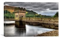 Derwent Dam, Derbyshire, Canvas Print