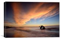 Mary's Shell sunset, Cleveleys, Canvas Print