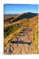 The Descent Of Mam Tor, Canvas Print