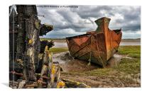 Fleetwood Marsh Wrecks, Canvas Print