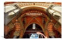 St Pancras Hotel, London, Canvas Print