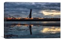 Blackpool Dawn, Canvas Print