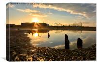 Blackpool Sunrise, Canvas Print