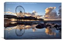 Central Pier, Blackpool, Canvas Print
