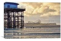 Blackpool Beach Views, Canvas Print