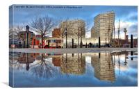Reflections Of Liverpool, Canvas Print