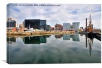 Canning Dock Reflections, Liverpool, Canvas Print