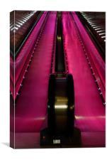 The Escalator, Canvas Print