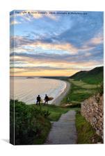 Rhossili Beach, Wales, Canvas Print