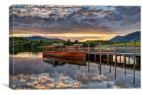 Derwentwater Sunset, Canvas Print