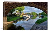 Lancaster Canal Reflections, Canvas Print