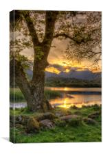 Last Light At Elterwater, Canvas Print