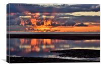 The Last Rays At Cleveleys, Canvas Print