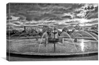 Stanley Park Fountains, Canvas Print