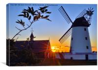 Lytham Windmill At Sunset, Canvas Print