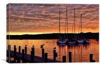 Windermere Sunset, Canvas Print
