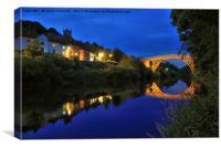 Ironbridge by night, Canvas Print