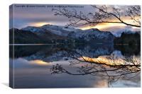Ullswater Sunset, Canvas Print