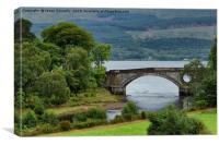 Loch Fyne Bridge., Canvas Print